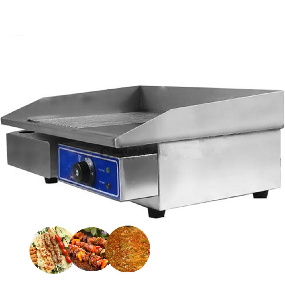 Restaurant equipment for commercial stainless steel electric griddle machine home contact grill with thermostat