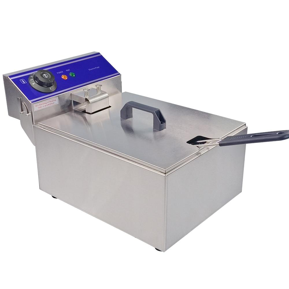 Mini deep fryer 10L household frying machine commercial use electric cooker for fish potato chips