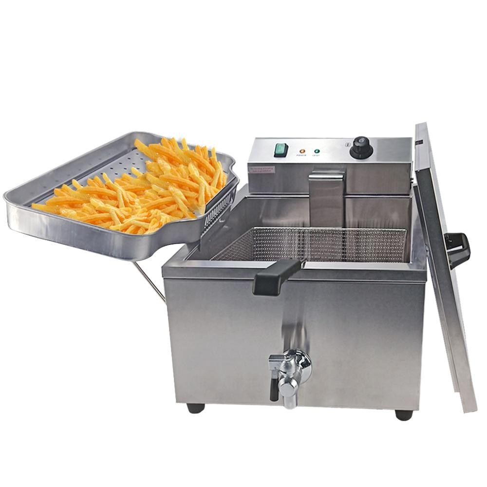 Electric deep fryer commercial french good quality chicken grill machine kitchen equipment french fries