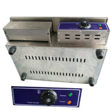 Electric griddle commercial chop plate countertop contact grill bbq panini teppanyaki stainless steel