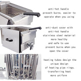 Electric deep fryer frying cooker grill commercial use household fat machine with basket