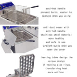 Deep fat fryer restaurant use frying machine multifunctional grill fried chicken dough sticks