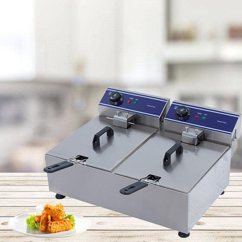 Deep fryer electric machine small convenient commercial or household healthy delicious fish chicken potato eggplant french fries