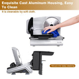 Electric food slicer 150w 2 blades available thickness adjustable for bread cheese vegetables fruits meats