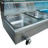 Food warmer professional commercial insulation deep soup stove buffet tray equipment for restaurant