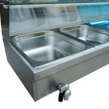 Industrial food warmer commercial buffet deep soup stove table top keep machine for kitchen appliance
