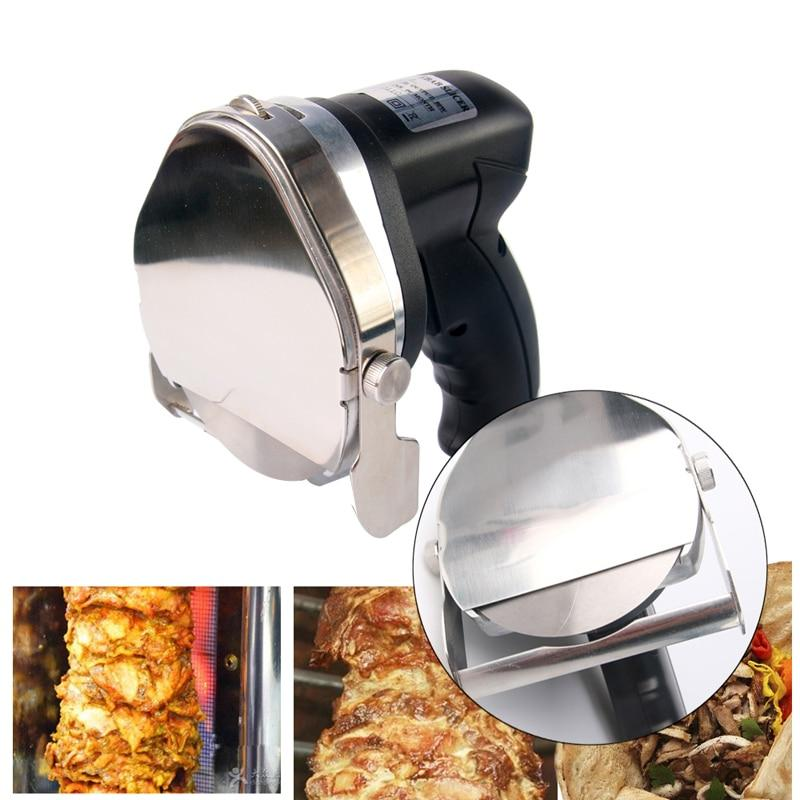 Automatic slicer electric doner kebab for shawarma knife slicer gyro cutter with 2 blades