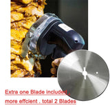 Kebab slicer electric shawarma  gyros meat cutting machine kitchen knife extra blade 110/220/240v