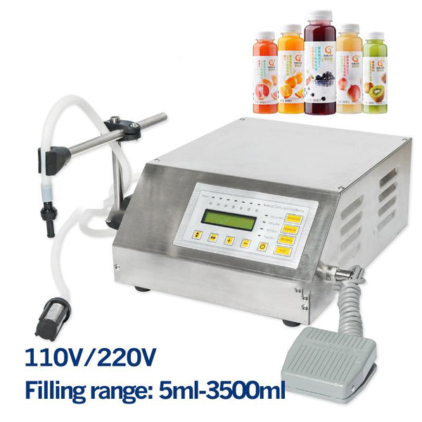 Filling machine 5-3500ml small nozzle single head softdrink e-liquid electric bottle