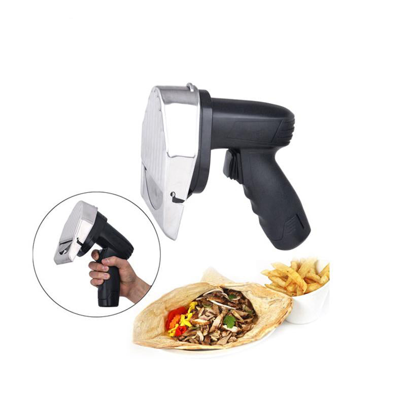 Kebab slicer shawarma knife electric meat cutting machine food processor gyros 2 blades