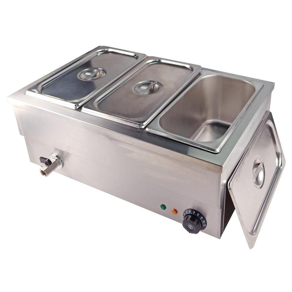 Commercial buffet stainless steel food bain marie insulation deep soup stove warmer machine for kitchen appliance