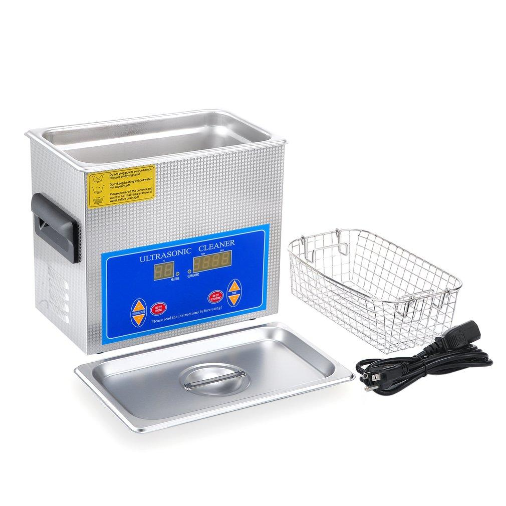 Ultrasonic cleaner practical stainless steel 3.2l liter industry heated heater timer high efficiency cleaning tool