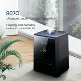 Air humidifier ultrasonic 5.31l for home mute bedroom office large capacity aromatherapy device