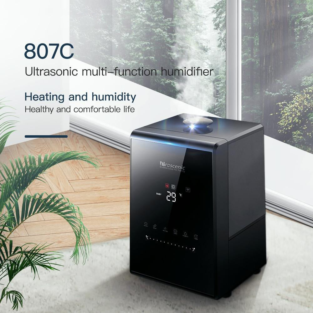 Ultrasonic humidifier 5.31l vaporizer warm mist for large room baby bedroom