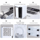 Air dehumidifier 1.5l 12l/d digital display drying timer anion purify energy saving damp mould home bedroom
