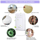 Portable dehumidifier 2L ax2 auto shut-off air purifier 750ml/d for damp mould moisture in wardrobe home office