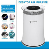 Air purifier hepa filter negative ion odor allergies eliminator for smoke dust pets dander cleaner night light