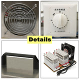 Car AC 110v 20g ozone generator disinfection machine home air purifier + steel cover us plug