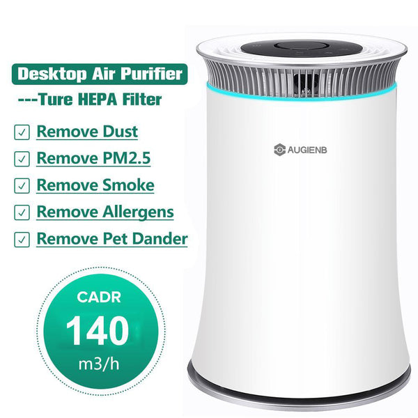 Air purifier with true hepa filter odor allergies eliminator for smoke dust pets dander cleaner night light timer