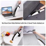 Handheld vacuum cleaner cordless with charge mount 4 headtools wet dry suction home car pet fur