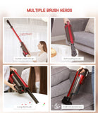 Wireless vacuum cleaner 2 in 1 pet stick cordless with led motor brush, wall mount hepa filter