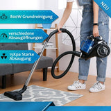 Vacuum cleaner bagless canister upright lightweight corded 15kpa suction hepa filter for pet fur hard floor carpet
