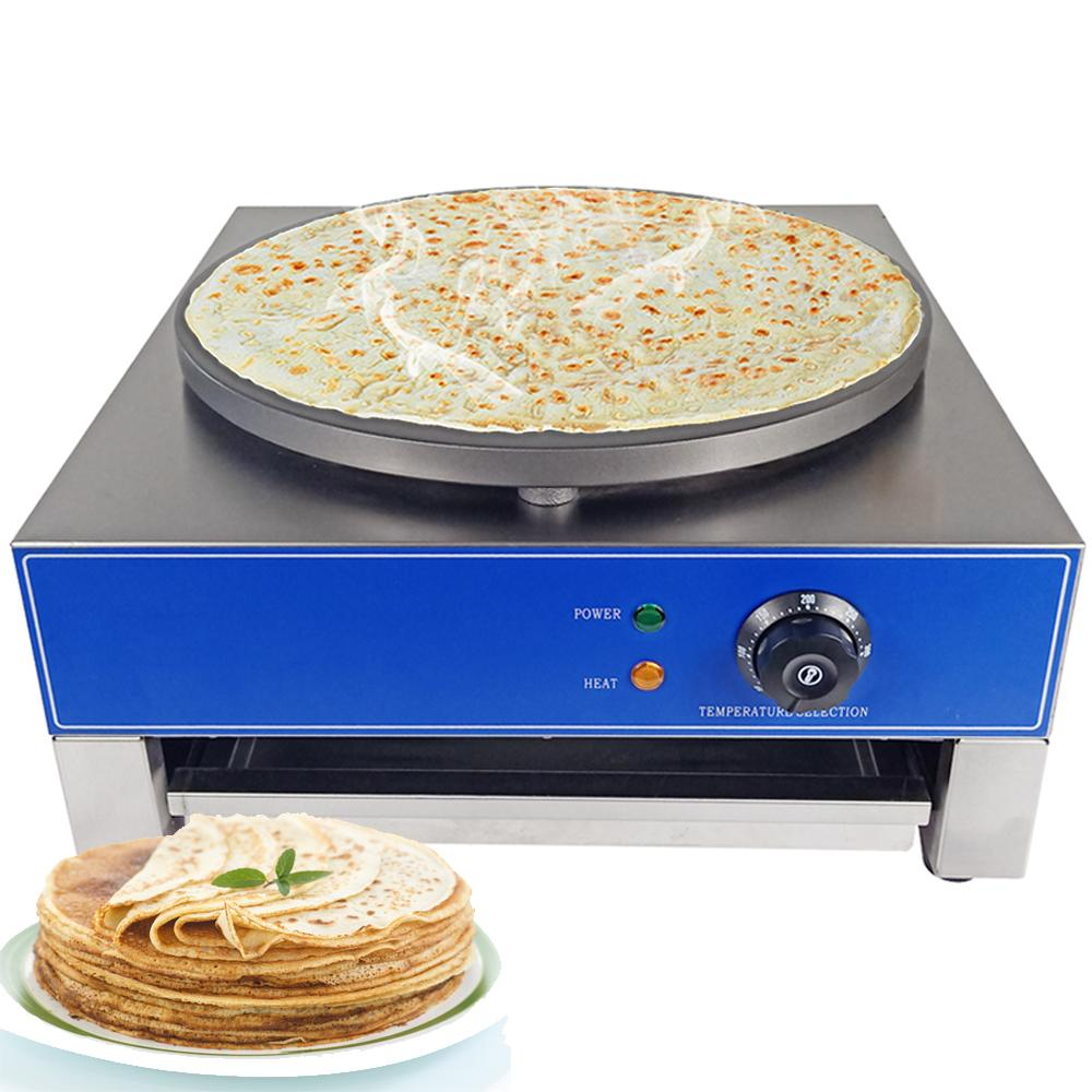 Crepe maker multifunctional electric commercial machine for home kitchen use breakfast pizza minute cooker