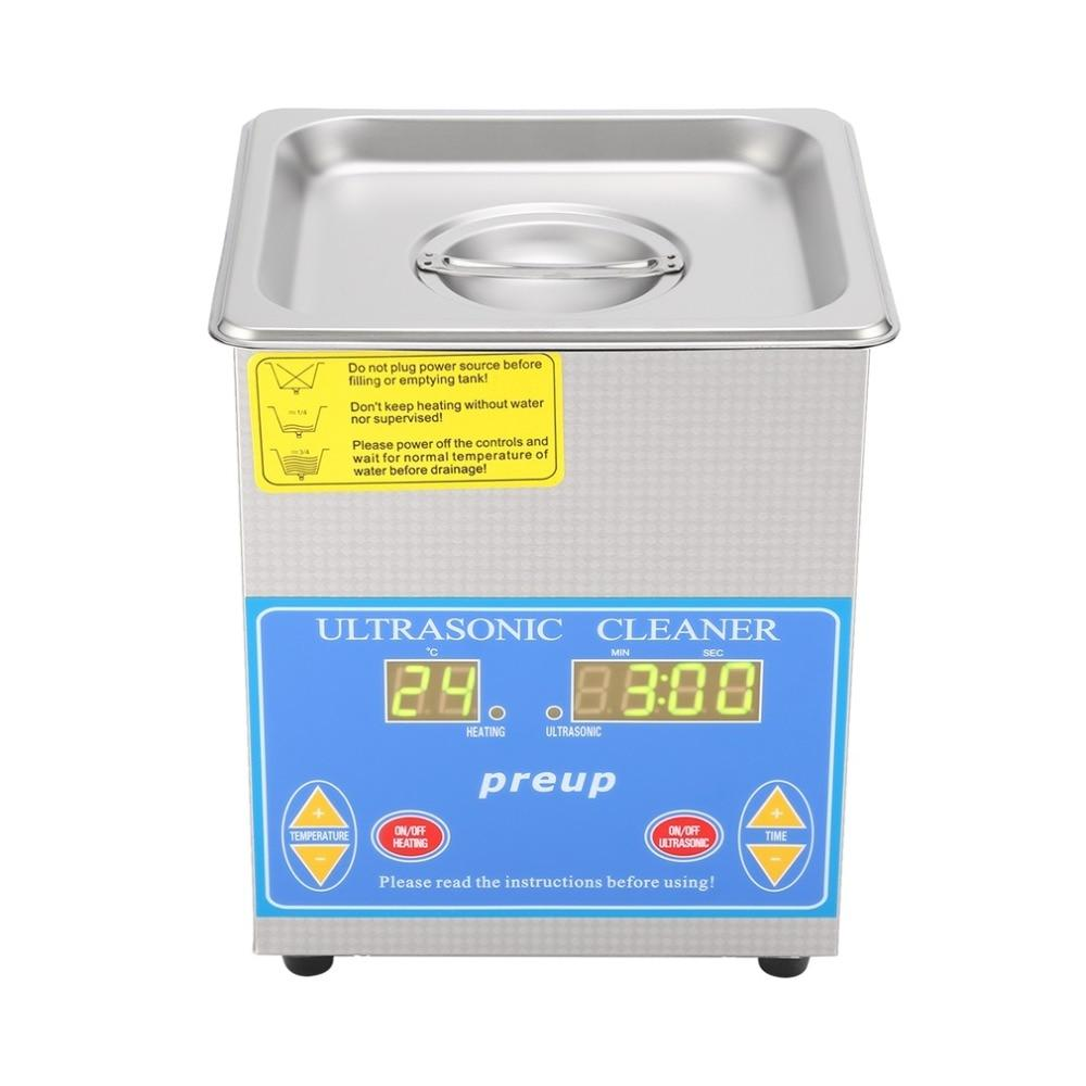 Ultrasonic cleaner commercial 1.3 liters heated with digital timer jewelry watch glasses large capacity