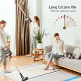 Cordless vacuum proscenic p8 plus stick cleaner powerful cleaning lightweight handheld with rechargeable battery