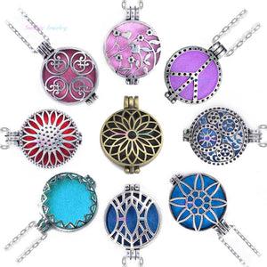 10pcs Mix Open Antique Vintage Lockets Essential Oil Diffuser Perfume Aromatherapy Diffuser Necklace Locket Necklace For Gifts