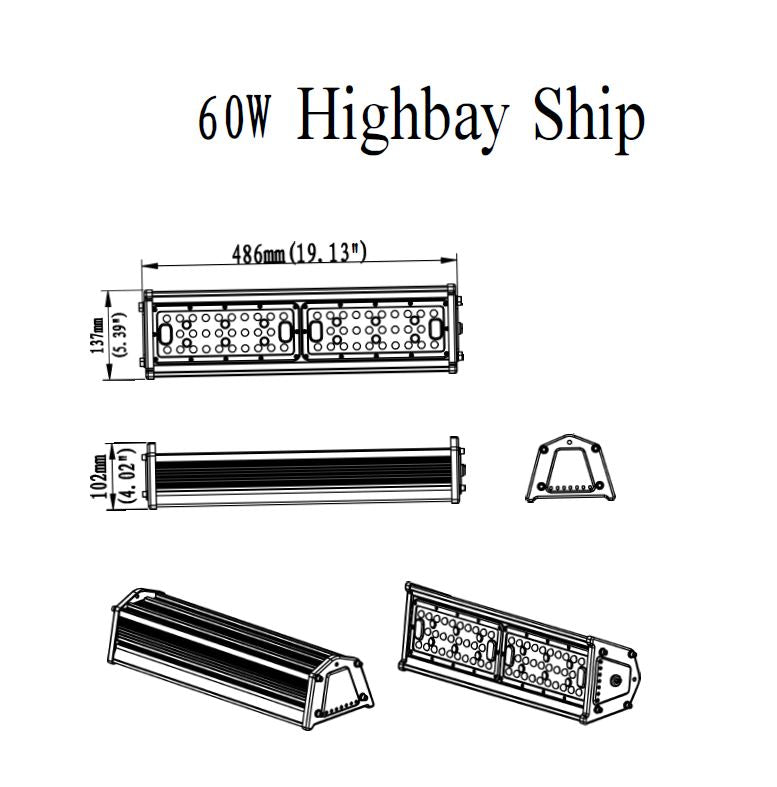 LEDVISION™ Highbay Ship 60W