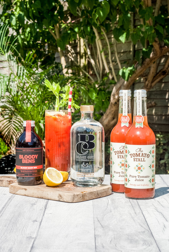 Black Cow Vodka with Bloody Bens Bloody Mary Mix and Tomato Juice - BloodyBens