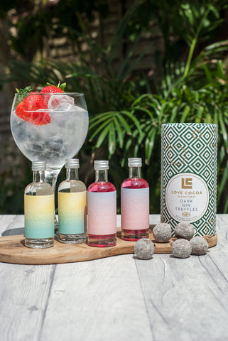 Mini Gin Selection with Love Cocoa Dark Gin Truffles - BloodyBens