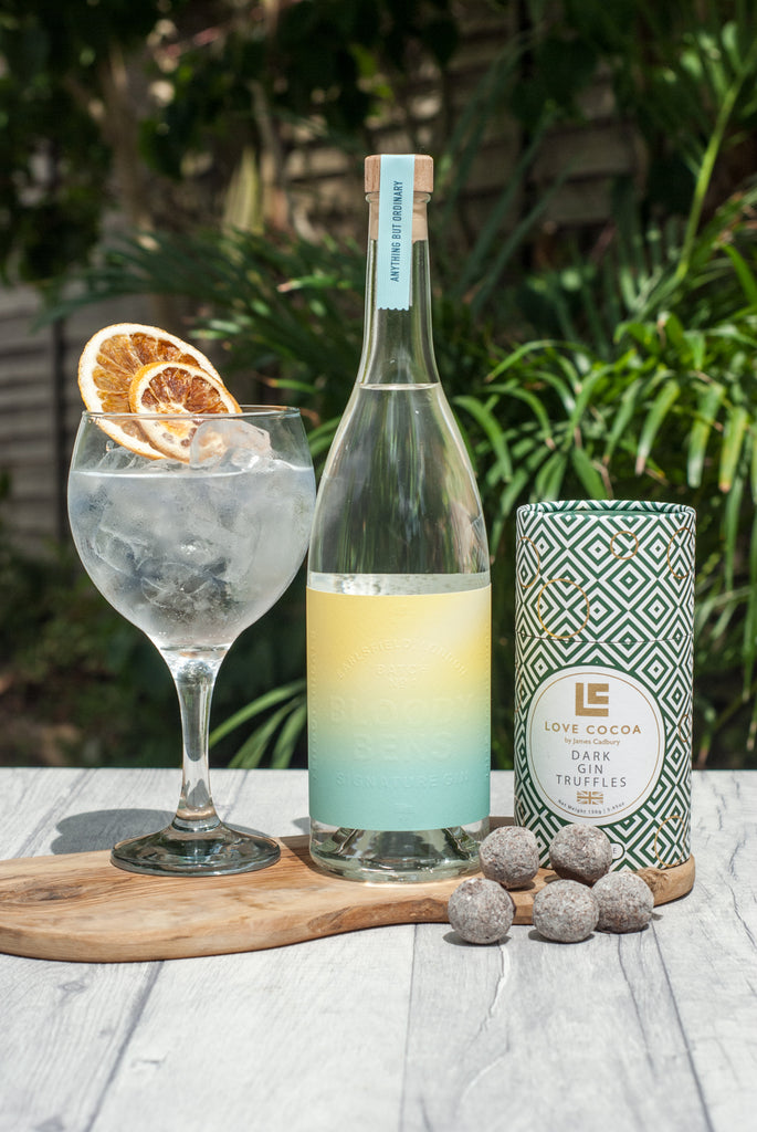 Signature Gin with Love Cocoa Dark Gin Truffles - BloodyBens