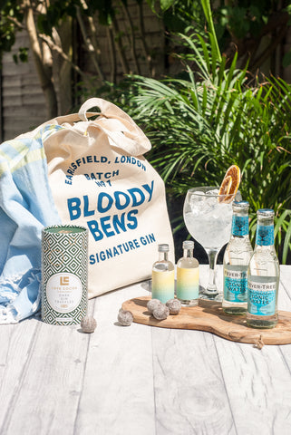 Mini G&T, Dark Gin Truffles & Beach Bag - BloodyBens
