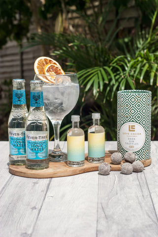 Bloody Bens Mini G&T set with Love Cocoa Dark Gin Truffles - BloodyBens