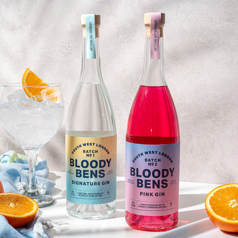 Double Gin Pack: A bottle of Signature Gin and Pink Gin - BloodyBens