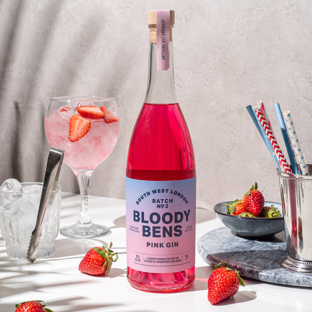 Pink Gin (Strawberries & Cream flavour) 70cl Bottle - BloodyBens