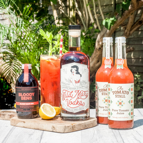 Wild Mary Vodka with Bloody Mary Mix and Tomato Juice - BloodyBens