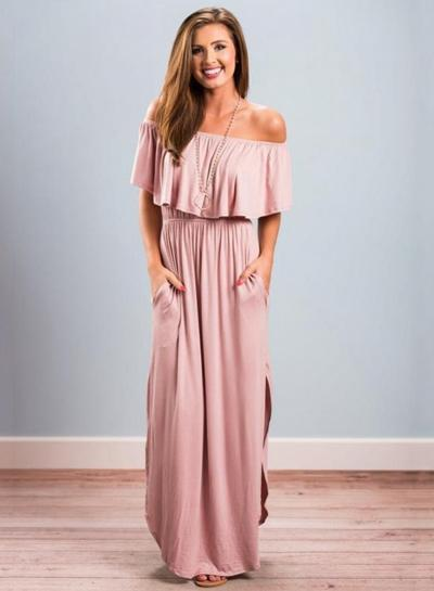 Olivia Off Shoulder Maxi Dress
