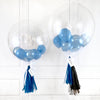 Blue Gold Bubble Balloon