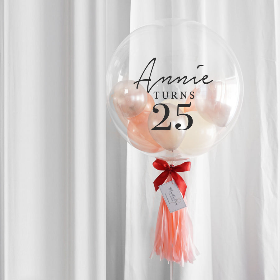 Peach Rose Gold Bubble Balloon