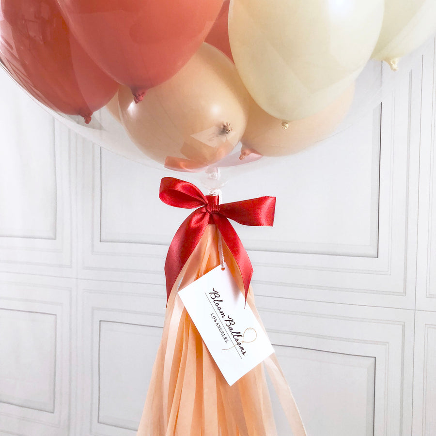 Peach Delight Mini Bubble Balloon