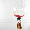 Red Feather Bubble Balloon