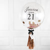 Pink Rose Gold Confetti Bubble Balloon
