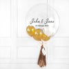 Gold Wedding Mini Bubble Balloon