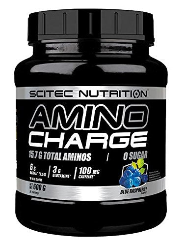 Scitec Amino Charge 600g 30 Servings Blue Raspberry