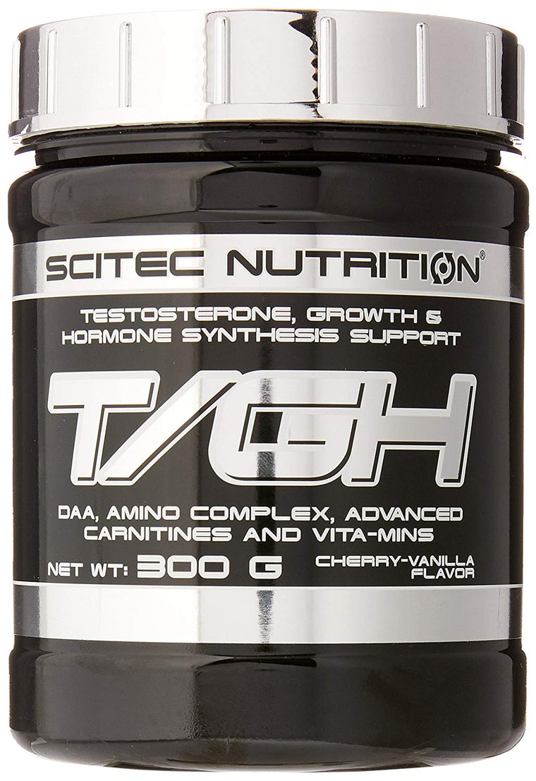 Scitec Nutrition T/GH Testosterone, Growth and Hormone Synthesis Support Powder - 300g, Cherry Vanilla