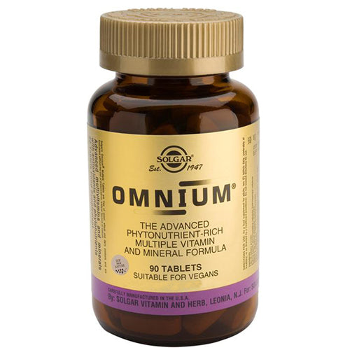 Solgar Omnium - Multiple Vitamin and Mineral Formula - 90 Tablets