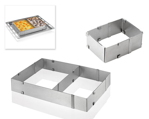 Adjustable Stainless Steel Square Cake Mold for Baking